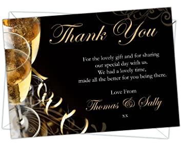 D L Designs Ltd Personalised Golden Wedding Anniversary Thank You