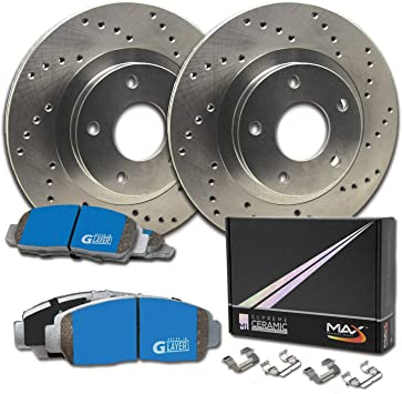 KM093422-1 Max Brakes Rear Premium XD Rotors and M1 Supreme Pads Brake Kit