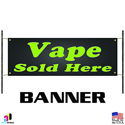 <b>Amazon</b>.com: Vape Sold Here Business Advertising Banner Sign Smoke ...