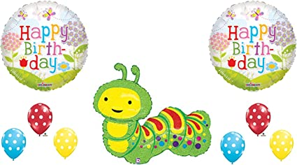 """18/"""" Very Hungry Caterpillar Happy Birthday Party Foil Helium Balloon Anagram"""