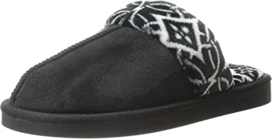 Vera Bradley Women's Cozy Slippers Black Slipper LG (US Women's ...