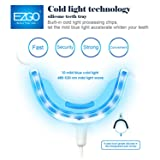 EZGO Professional Blue Color 10-LED Teeth Whitening Trays, Super Soft Silicone Teeth Whitening LED Accelerator Mouth Tray with 3 Adapters For iPhone, Android & USB