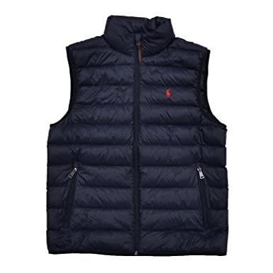 Polo Ralph Lauren Mens Full Zip Puffer Vest (Small, Aviator Navy)