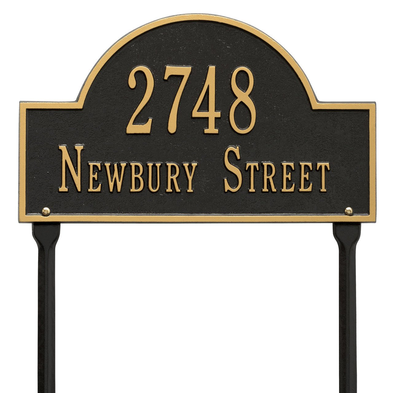 "Custom Arch Marker LAWN Address Plaque 16""W x 9""H (2 Lines)"