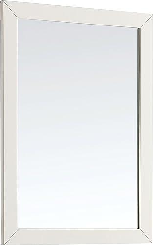 Simpli Home Paige 24 inch x 34 inch Bath Vanity D cor Mirror in Off White