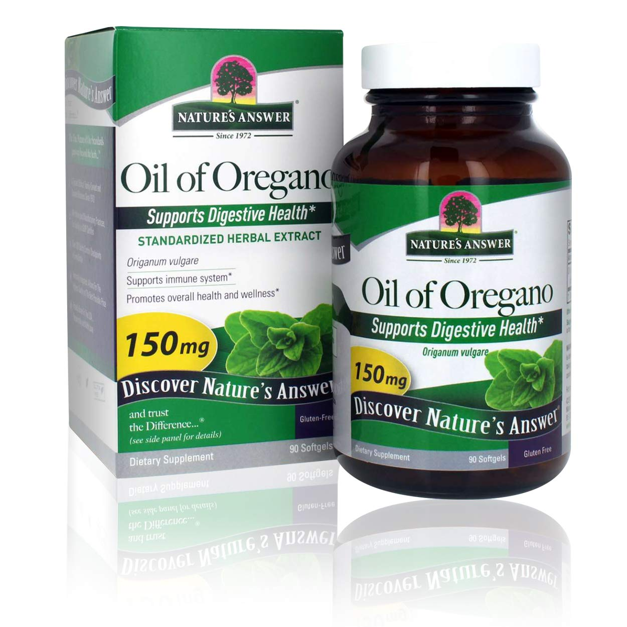 Nature's Answer Oil of Oregano Capsule Softgels, 90-Count | Natural Immune Booster | Promotes Healthy Digestion & Gut Flora: Health & Personal Care