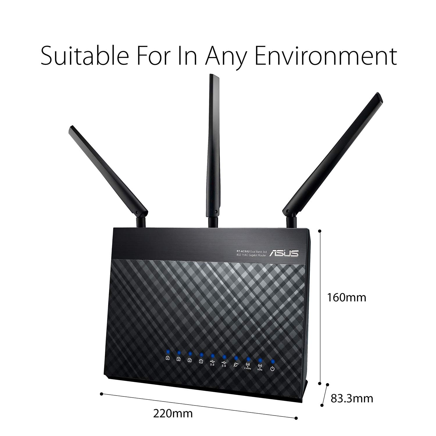 ASUS RT-AC86U Wi-Fi AC2900 (AI Mesh USB 3 0 Router, AiProtection by Trend  Micro, AI Mesh, WTFast Game Accelerator Adaptive QoS, Dual-WAN 3G/4G