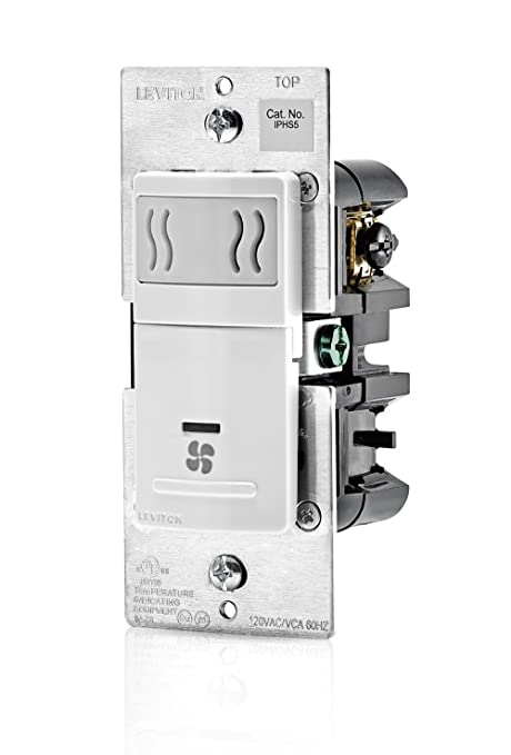 Leviton IPHS5-1LW Humidity Sensor and Fan Control, Single Pole ...