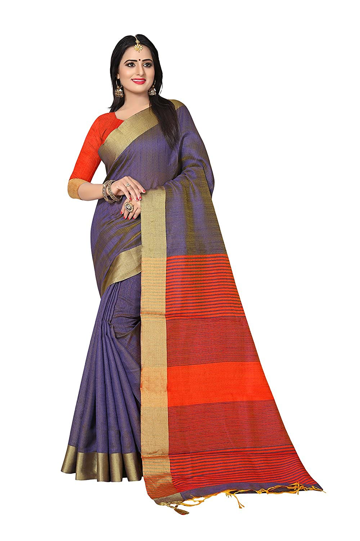 bluee 8 Fashions Trendz Indian Sarees for Women Wedding Designer Party Wear Traditional Sari.