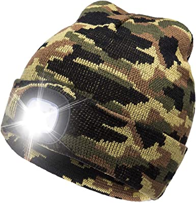 Camouflage Beanie Hat Boys Stocking Fillers Army Party Favours Winter Warmer