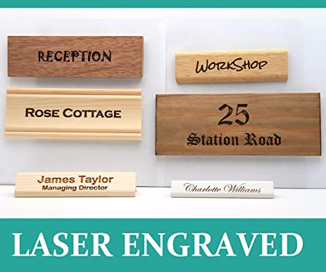 amazon com personalised door sign house number plaque name desk