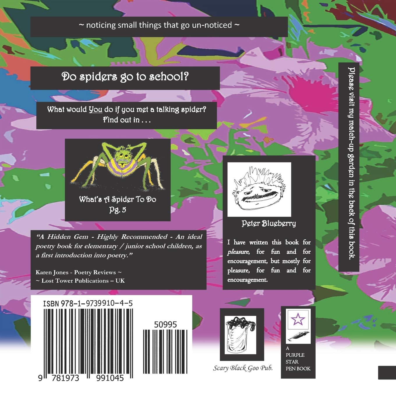 Dancing with Spiders (A Children's Poetry Book): Peter blueberry