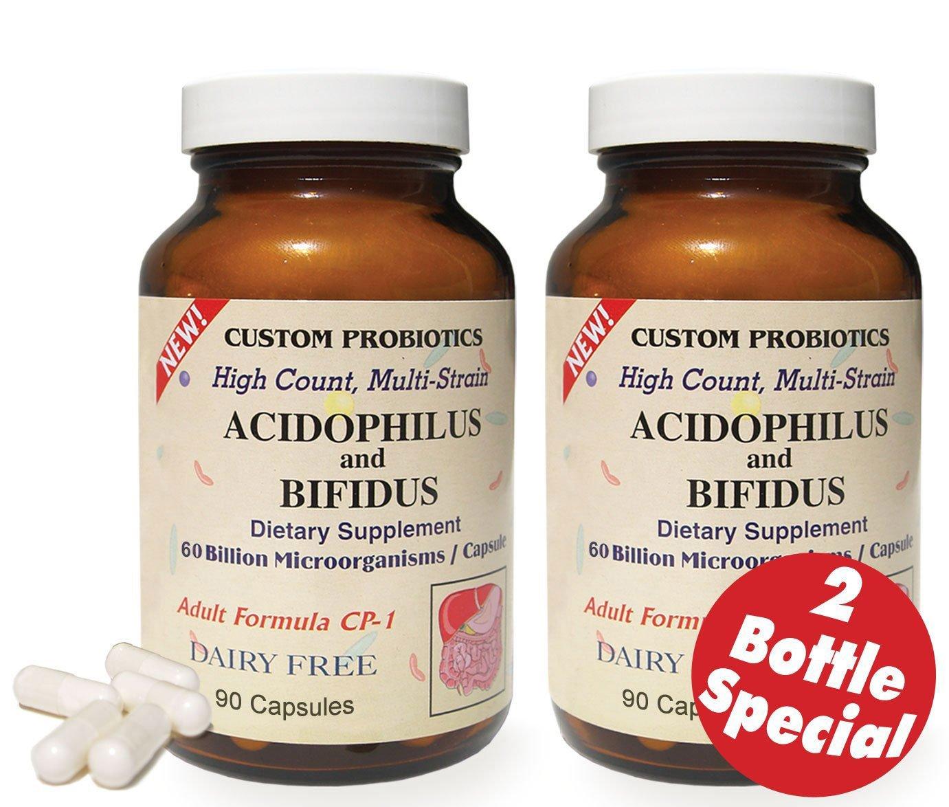 Custom Probiotics CP-1 | 2 Bottles Special- 180 Capsules total