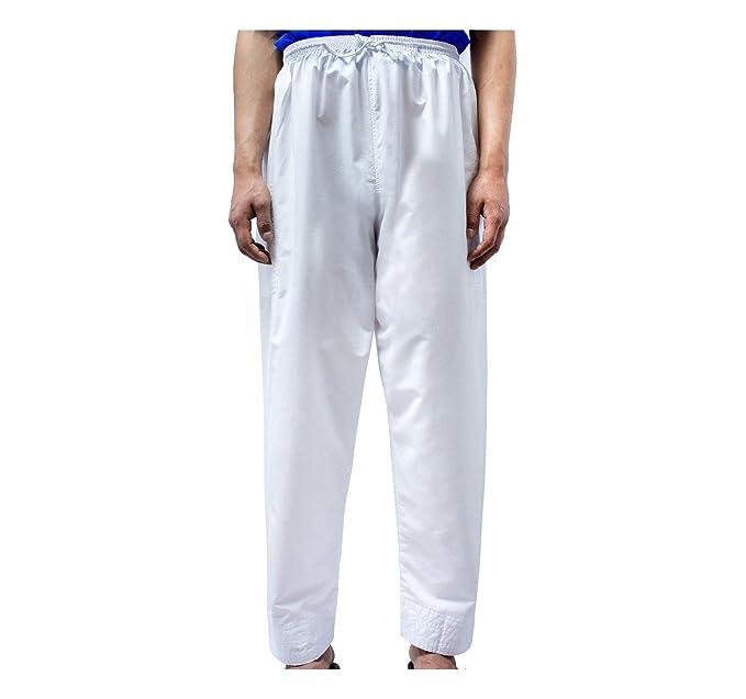Al Andalus - Pantalón de pijama - para hombre Blanco blanco 40