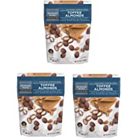 Edward Marc Toffee Almonds with Milk Chocolate - Pack of 3 Bags - 24 oz per