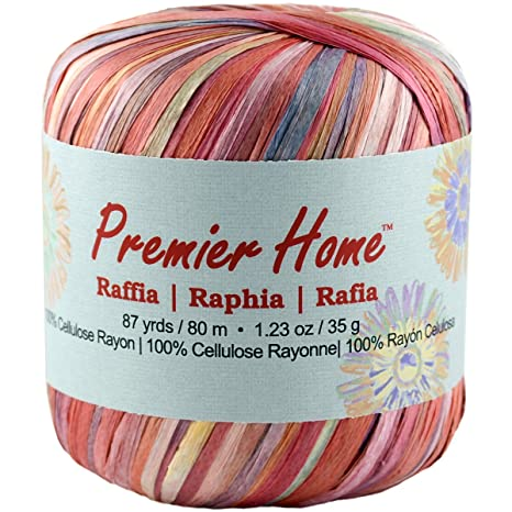 Premier Yarns Raffia Multis Yarn, Sunshine