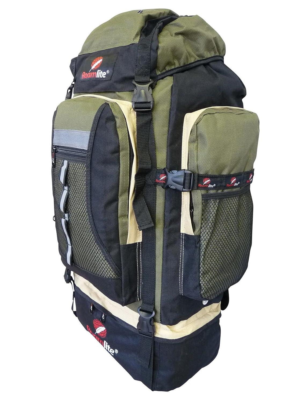 Roamlite RL02M - Mochila de montaña (80-85 l) - - Black Khaki: Amazon.es: Deportes y aire libre