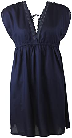 3be5d4c8990c5 Ex Monsoon Accessorize Navy Beach Dress cover up Summer Crochet Top (Large  16-18): Amazon.co.uk: Clothing