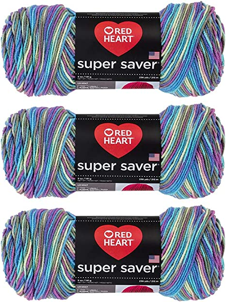 Butterfly 3953 4 Ply Worsted Red Heart Super Saver Yarn E300 5 Oz Skein
