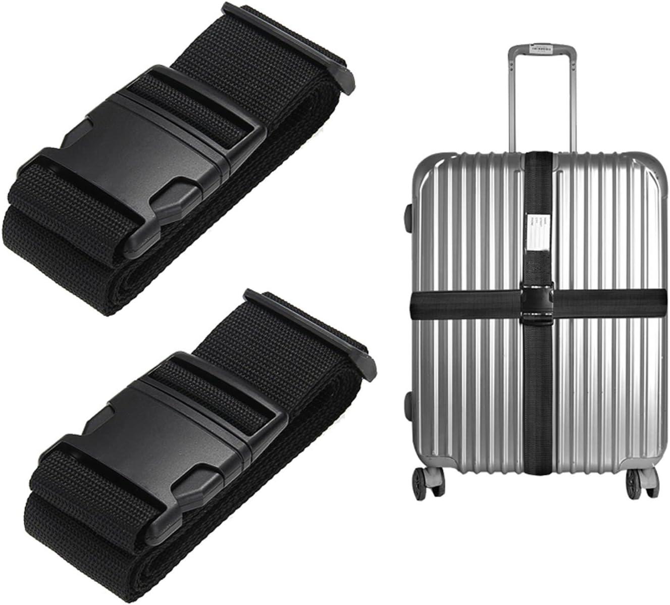 Gep/äckgurt 5 x 200cm Regenbogen Fmway 2 St/ück Verstellbare Koffergurt Kofferband Identifikation geeignet f/ür 20-30 Koffer