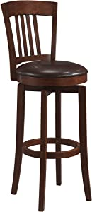 Hillsdale Furniture Canton Swivel Counter Stool, Brown
