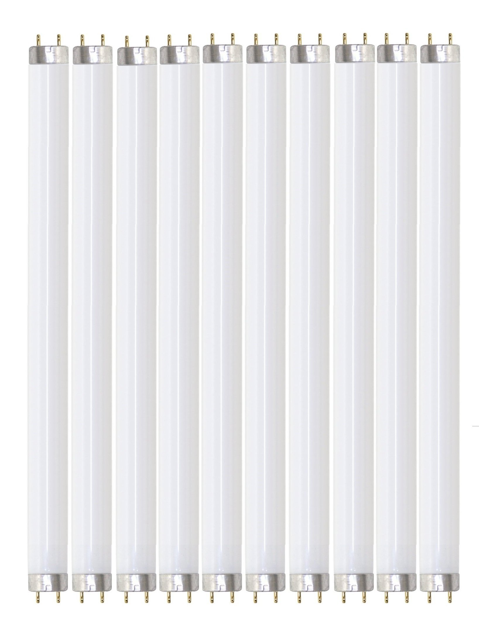 Pack of 10 F32T8/841 32 watt 48'' Straight F32 T8 Medium Bi-Pin (G13) Base, 4,100K Cool White Octron Fluorescent Tube Light Bulb