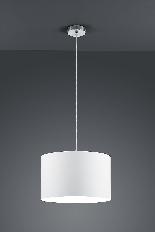 nickel matt Trio Leuchten Deckenleuchte Embassy 603800214 stoffschirm braun