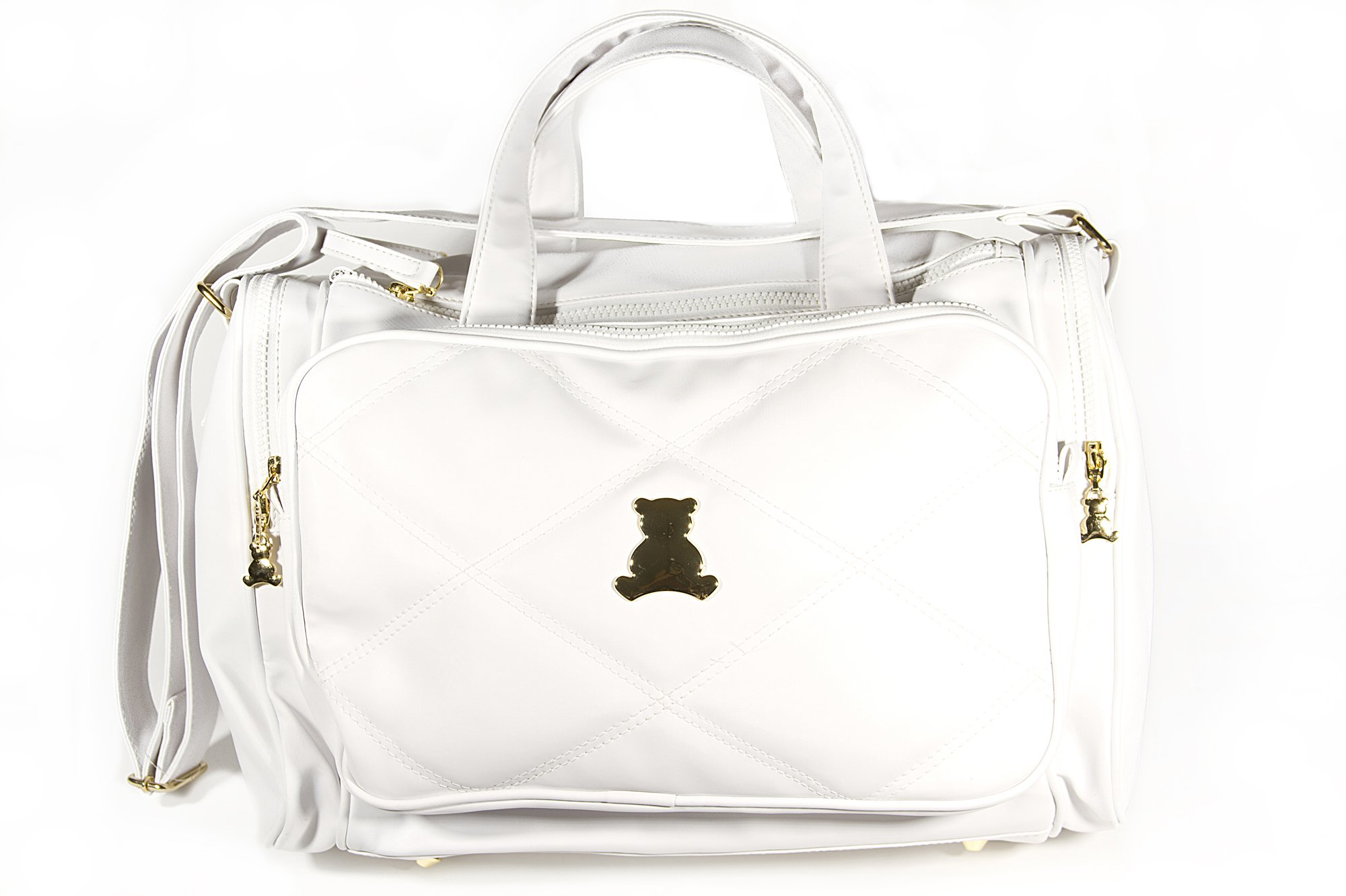 BL BABY - Elegance Collec. - MED -crossbody Bag - Themal - White - 5x15x10''