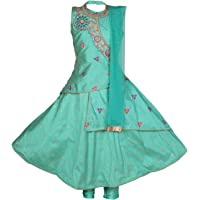 Ashwini Girl Polyester Embroidery Salwar Suit with Boat Neck