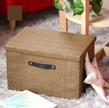 Cajas de almacenamiento Plegable ropa Cajas de almacenamiento de punto de almacenamiento de la cesta de ...