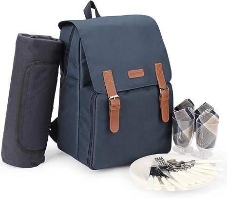 Mochila térmica aislada, bolsa de picnic para 4 personas con ...