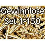 Röllchenlose gold-glänzend, Set 1-150