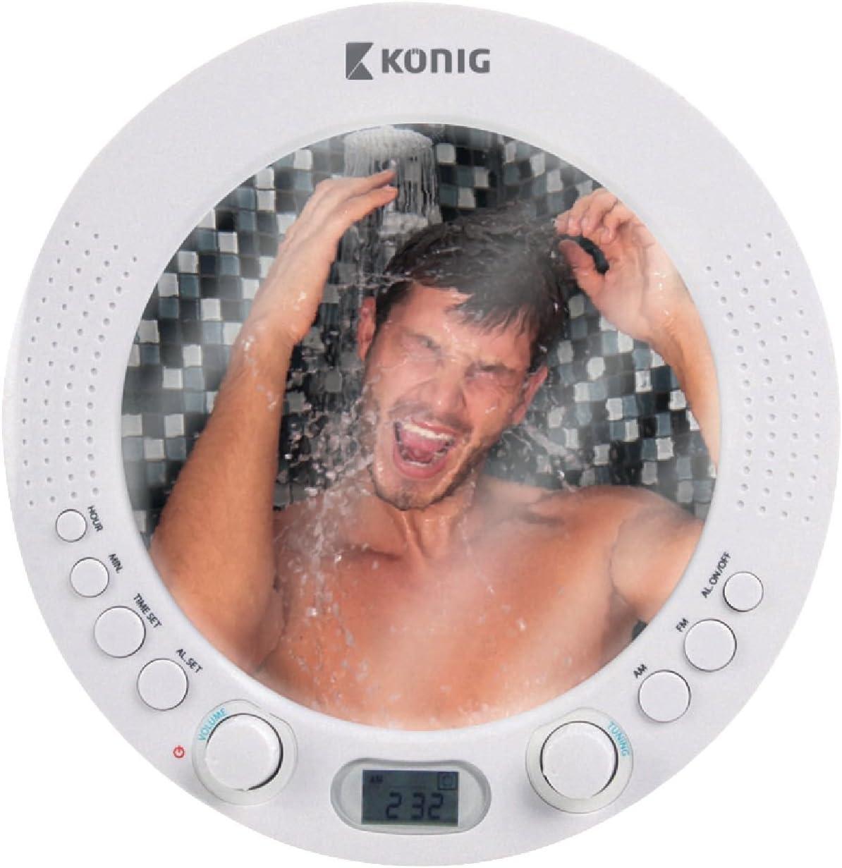Radio aM fM douche de salle de bains radio de douche sans fil r/ésistant /à lavec miroir eau