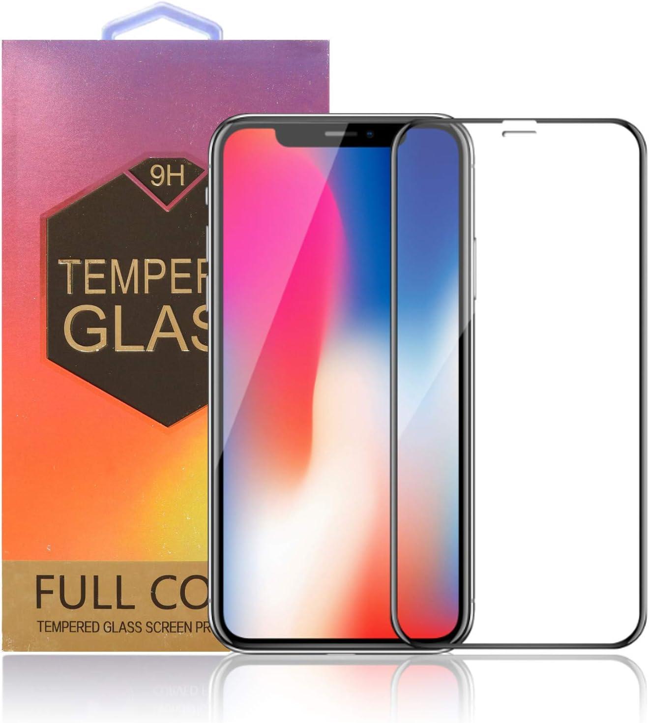 Protector Pantalla iPhone X / XS | Cobertura Total 3D | Inastillable | Libre de burbujas | | Anti Ralladuras | Ultra Delgado 0.33 mm | 9H Premium | Cristal Templado | 3D Touch & Face ID Compatible