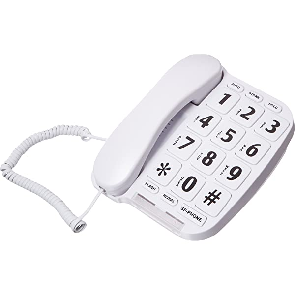 Large Number Big Button Home Phone Speaker Memory Caller ID Telephone Office New