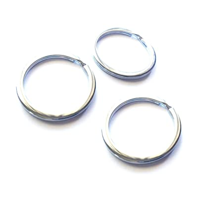 Mehr 3X Key Chain Rings - Chrome Keychain Rings - Durable Key Rings: Automotive