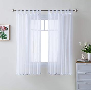 Amazon.com: HLC.ME - Juego de 2 paneles de gasa para ventana ...
