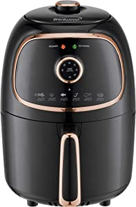 Brentwood Appliances AF-202BKC 2-Quart 1,200-Watt Electric Air Fryer with Timer and Temperature Control (Black/Copper), Normal