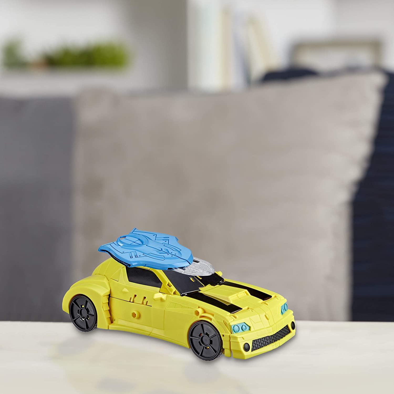25 cm Robot Electronique Officier Bumblebee Transformers Bumblebee Cyberverse Adventures Jouet Transformable 2 en 1