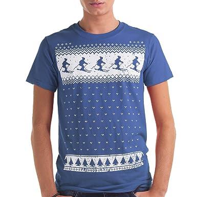 Mens Winter Ski Fair isle T-shirt - Alternative to a Christmas ...