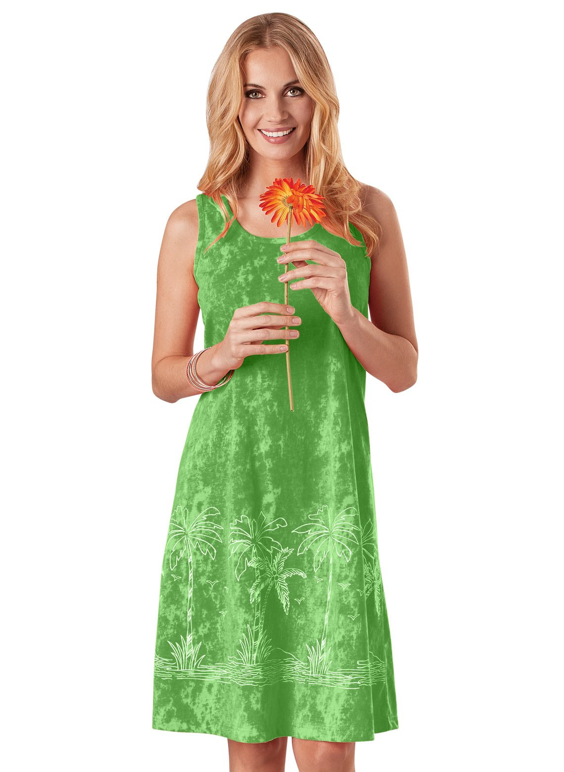 Carol Wright Gifts Dress Tropical Tank, Color Lime, Size Extra Large (1X), Lime, Size Extra Large (1X)
