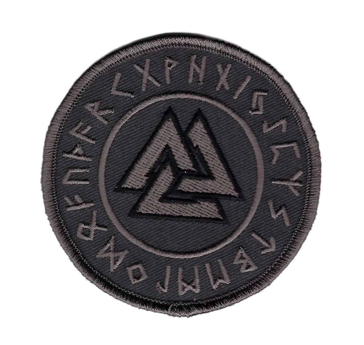 Titan One Europe Tactical Gray Viking Valknut Rune Pagan God Subdued ACU Patch Emblem Le Valknut Vikings D/écoratif Tactique /Écusson Brod/é