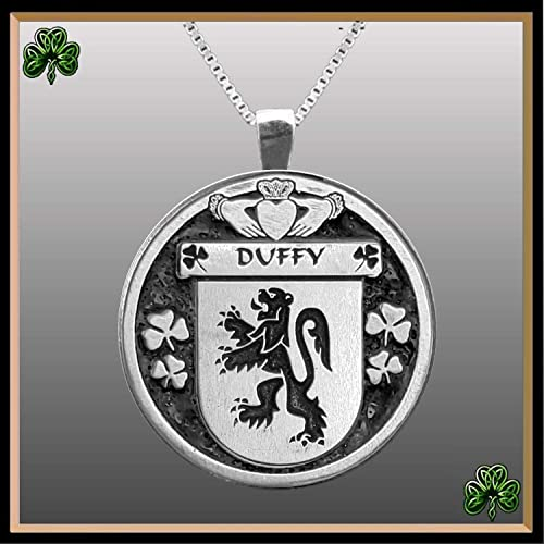 Select Gifts Duffy Ireland Family Crest Surname Coat Of Arms Gold Cufflinks Engraved Box