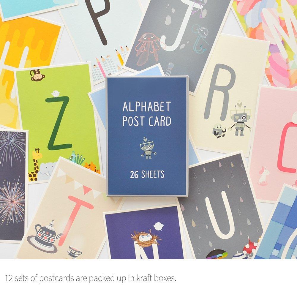 Monolike Postcards - Alpabet mix 26 pack by Monolike (Image #2)