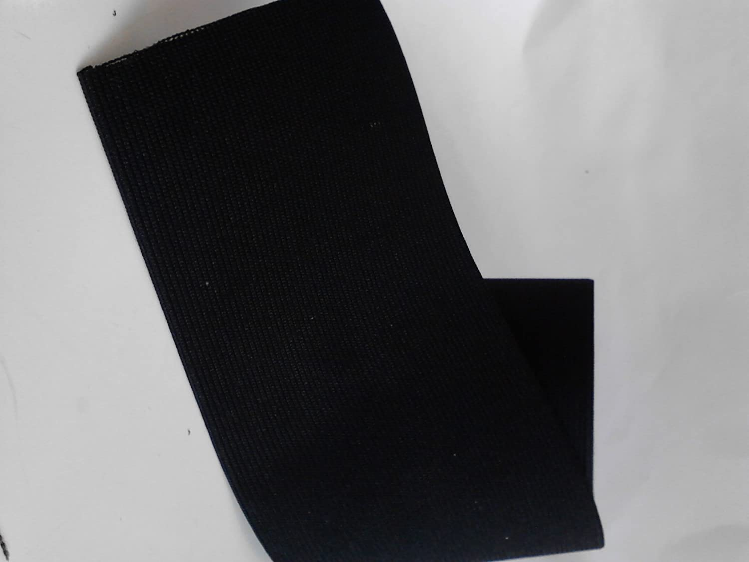4-Inch Wide Black Heavy Knit Stretch ELASTIC 3 Yards by Prolastic