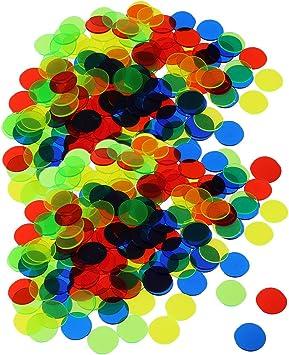 Baoblaze Set de 200pcs Fichas Bingo Chip Plástico Fichas para Juego de Mesa: Amazon.es: Juguetes y juegos