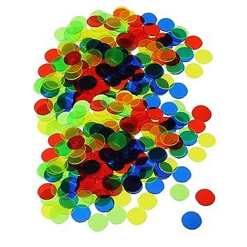 Baoblaze Set de 200pcs Fichas Bingo Chip Plástico Fichas para ...