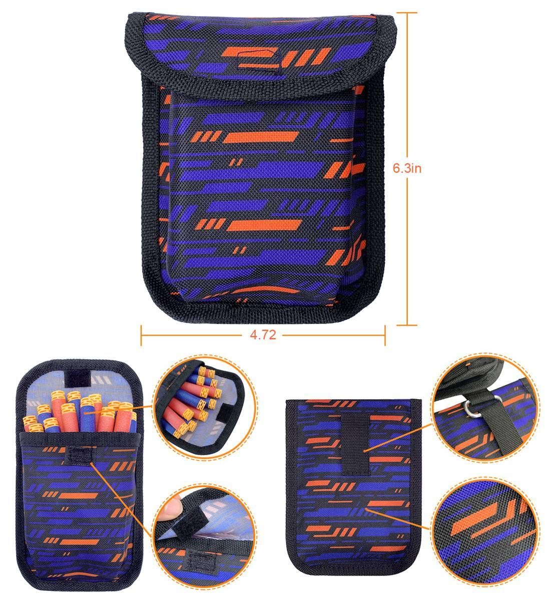 VDROL 38 Pcs Kids Tactical Vest Kit for Nerf Guns N 30 Bullets + 2 Quick Reload Clip + Protective Glasses + Face Tube Mask + Hand Wrist Bands + Darts Pouch