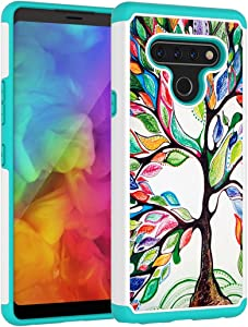 Vavies LG Stylo 6 Case, LG Stylo 6 Phone Case for Girls Women, Cute Shock Absorption Dual Layer Heavy Duty Protective Cover Rugged Cases for LG Stylo 6 (Love Tree)