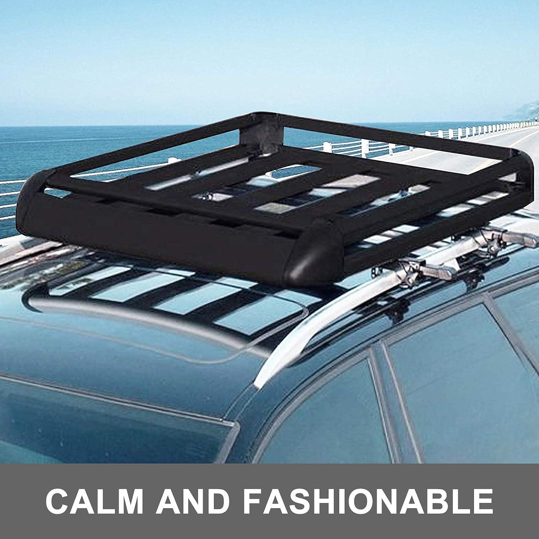 para Ford Maverick 1993 Portaequipajes para Coche 120 cm Bar para autom/óviles con riel no Completo en el Techo Fijo de Aluminio